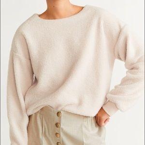 Mango sheepskin sweatshirt